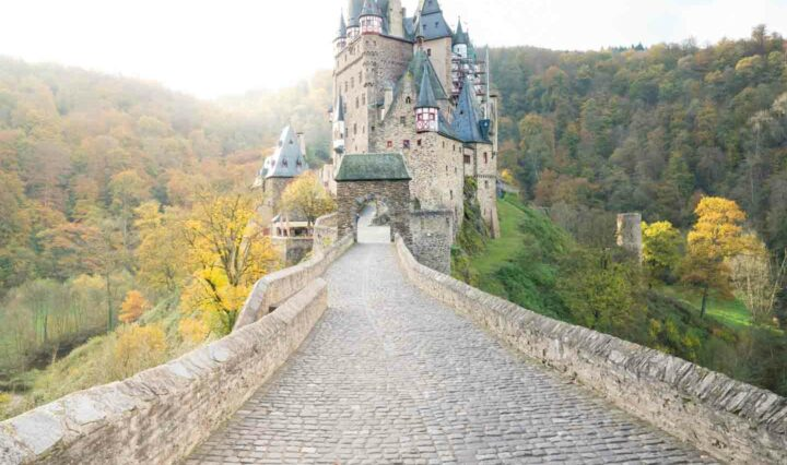 Eltz Castle is an iconic fairytale castle surrounded by nature in the German woods.