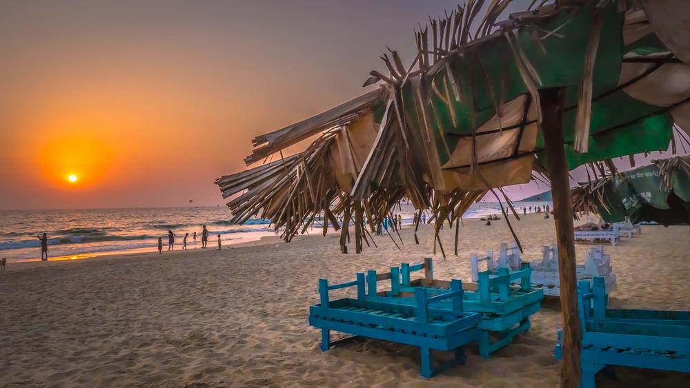 Calgunte Beach, Goa during a sunset