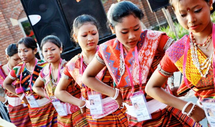 Celebrating harvest with dance