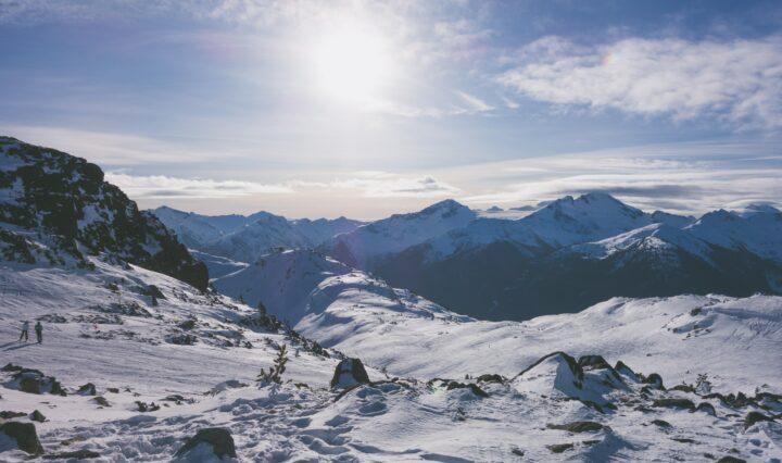 Whistler Mountain ski resort in British Columbia