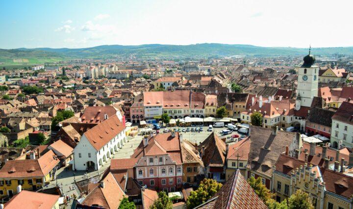 A view of Sibiu, Romania