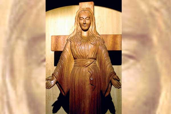 The wooden statue is said to have shed tears on 101 occasions
