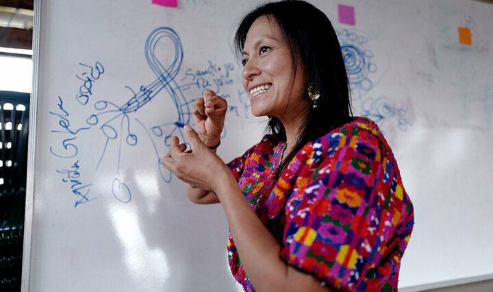 Angelina Aspuac, Maya Kaqchikel activist and weaver.
