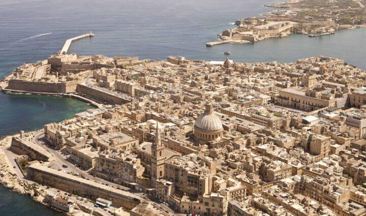 Birds eye view of Malta