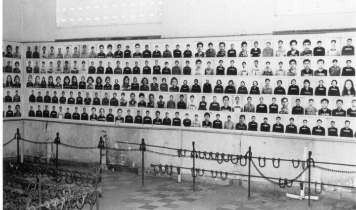 Photographs of prisoners at S 21 now the Tuol Sleng Genocide Museum