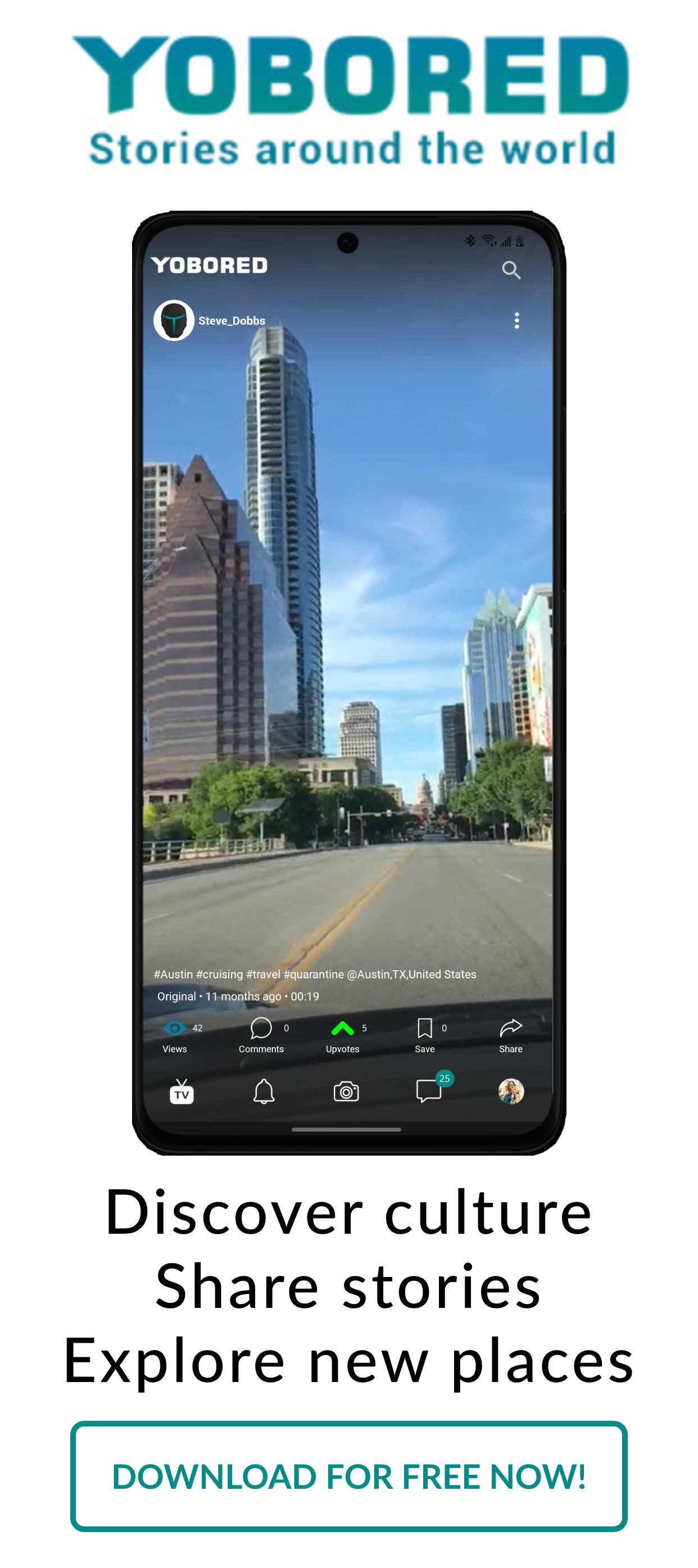 Yobored Mobile App