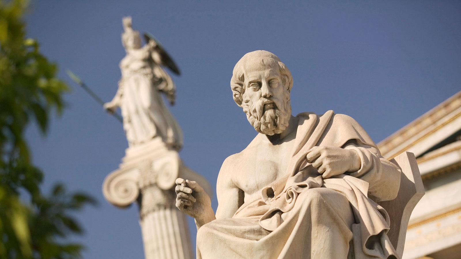 Statue of Plato. Socrates Athens