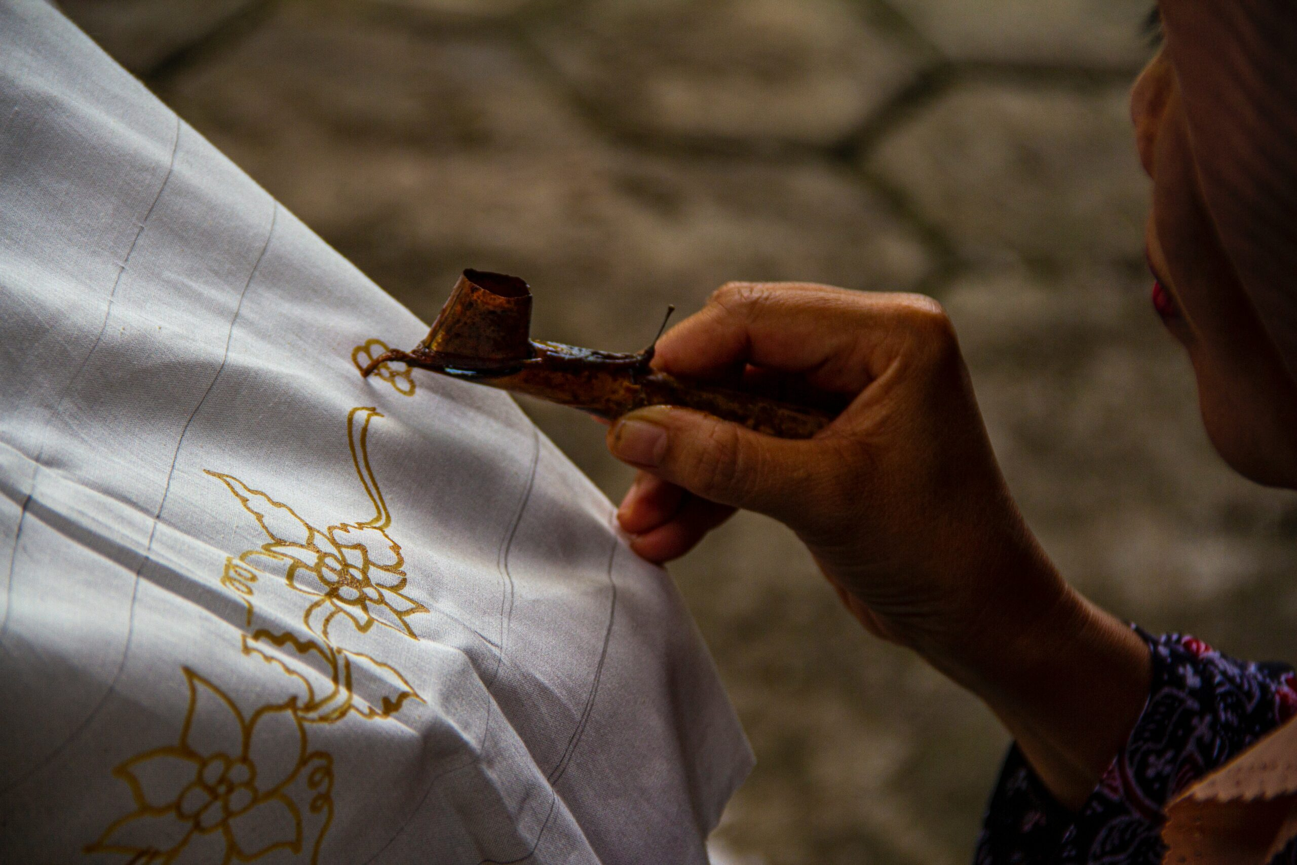 the batik process done by hand