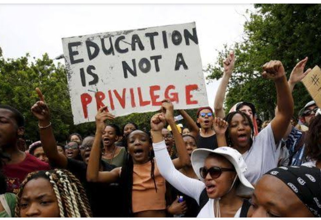 #FeesMustFall campaign to demonstrate dissatisfactions.