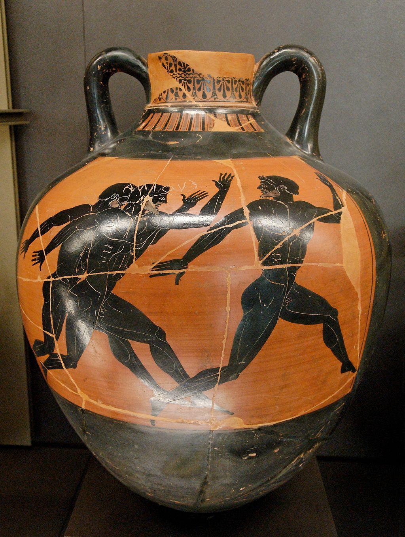 a pottery piece featuring greek art