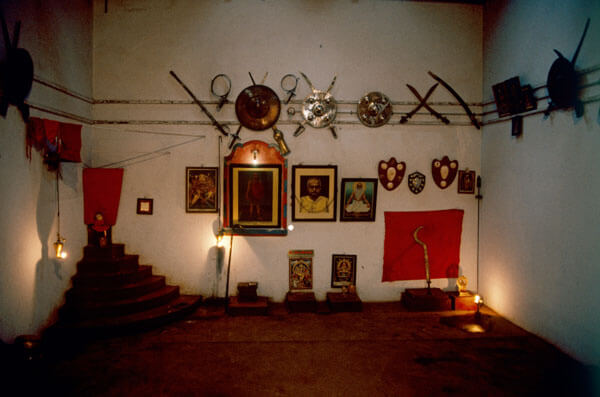 Kalari training hall.