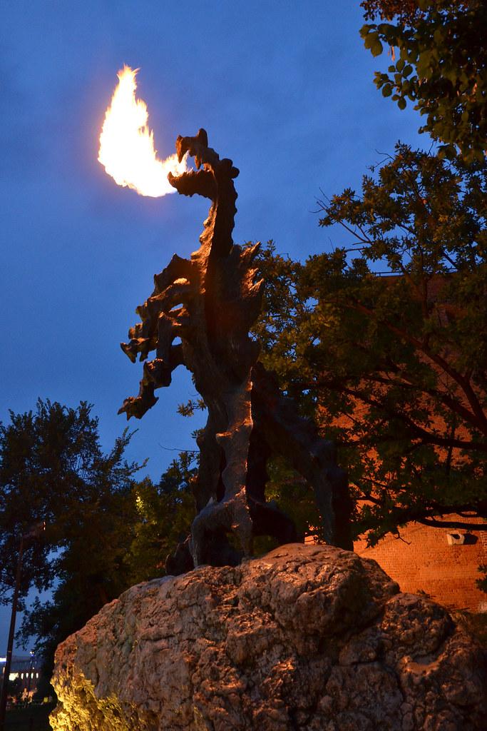 the fire breathing wawel dragon