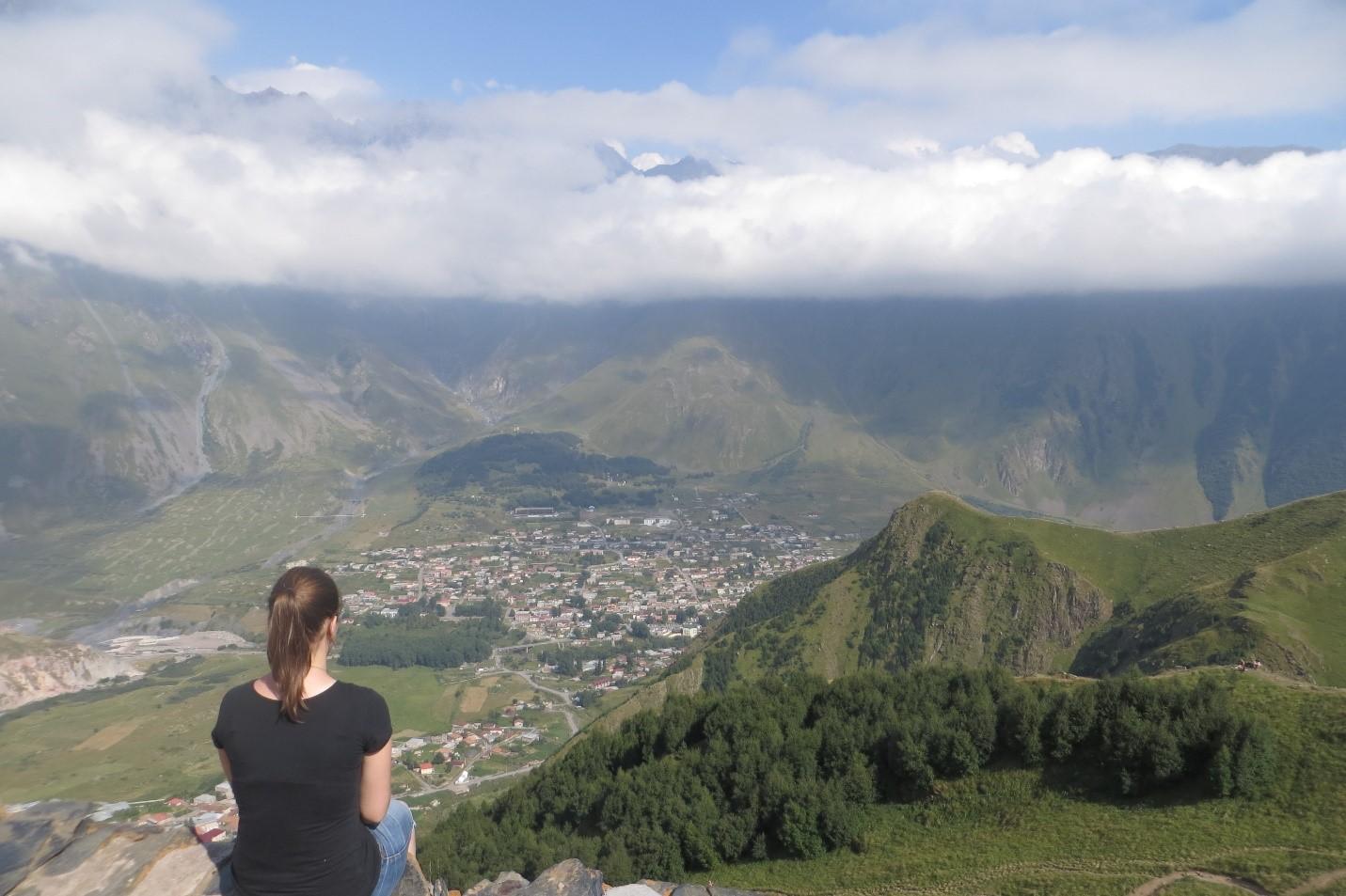 View from Mount Kazbegi