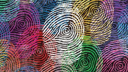 Each person, like their fingerprints, is unique.