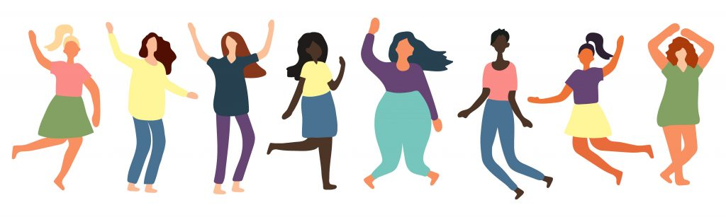 Colored illustration showing the diversity of bodies