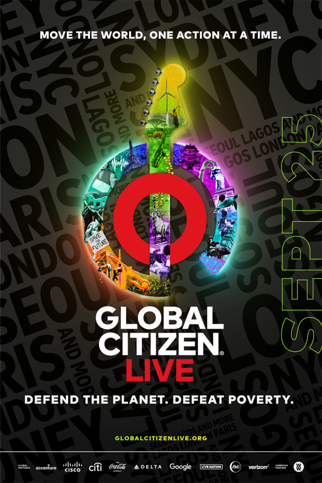The Global Citizen Live Poster