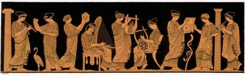 The nine Muses of Greek mythology. c