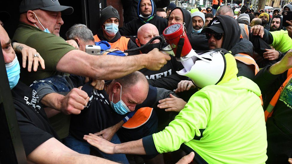 Civil unrest in Melbourne
