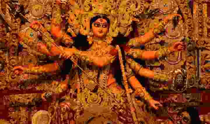 goddess durga killing asur