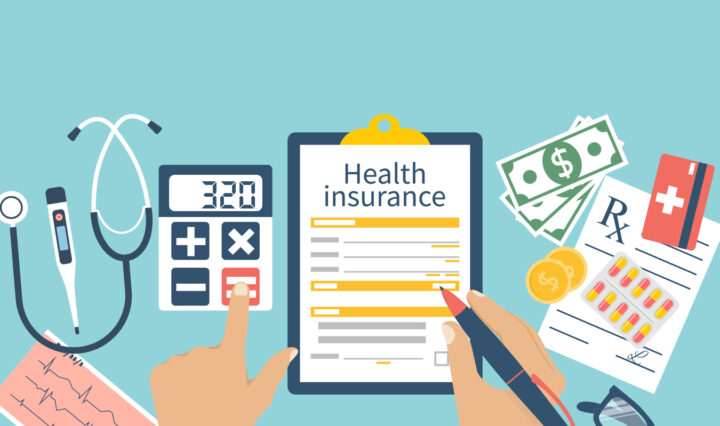 Filling out health insurance